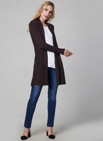 Shawl Collar Knit Cardigan, Purple,  Fall 2019, winter 2019, long sleeves, cardigan, knit