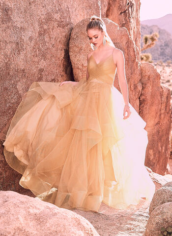 Terani Couture - Tiered Tulle Ball Gown, Off White, hi-res,  Prom 2019, graduation, ball gown