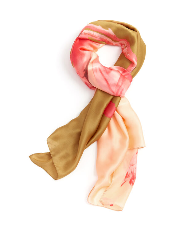 Foulard motif flamand rose, Orange, hi-res