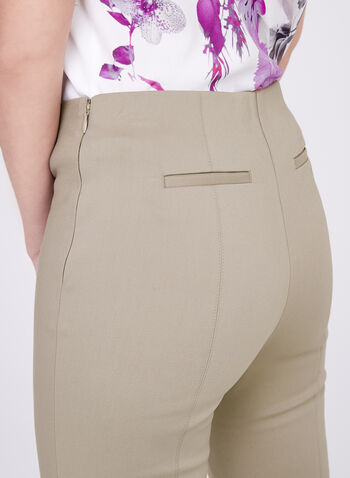 Stich Detail Capri Pants, Grey, hi-res