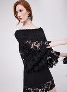 Joseph Ribkoff - Lace Trim A-Line Dress, Black, hi-res