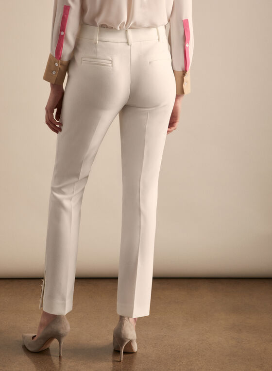 Giselle Button Detail Pants , Off White