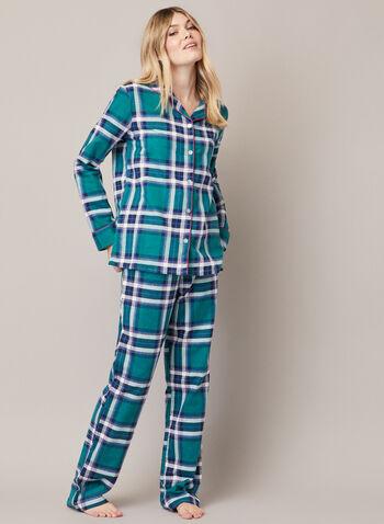 Ensemble pyjama à carreaux, Vert,  automne hiver 2020, pyjama, ensemble