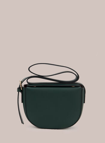 Faux Leather Satchel, Green,  handbag, satchel, faux leather, strap, adjustable, fall winter 2020