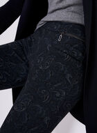 Pantalon pull-on Madison à motif tapisserie, Noir, hi-res