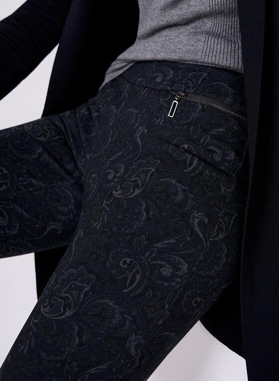 Madison Paisley Print Pants, Black, hi-res
