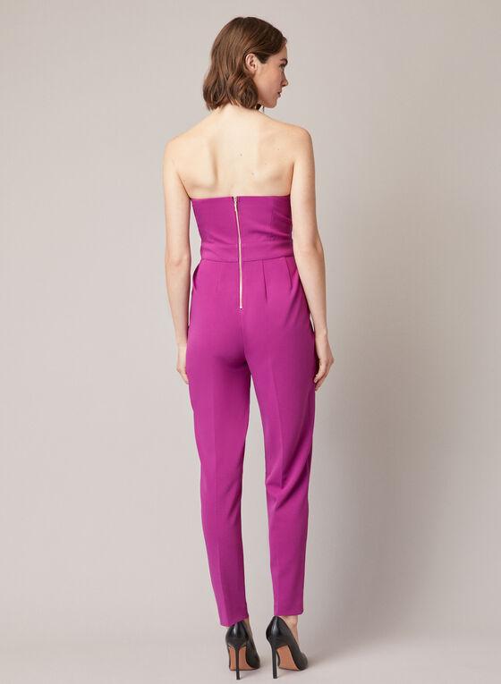 Bustier Style Jumpsuit, Purple