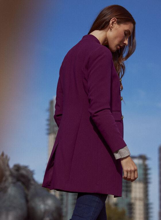 Button Detail Redingote, Purple