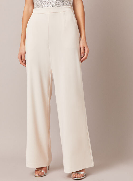 Sequin Wide Leg Jumpsuit, Off White