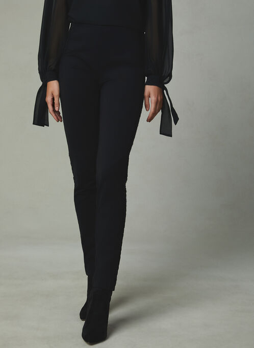 Madison Fit Slim Leg Pants, Black, hi-res