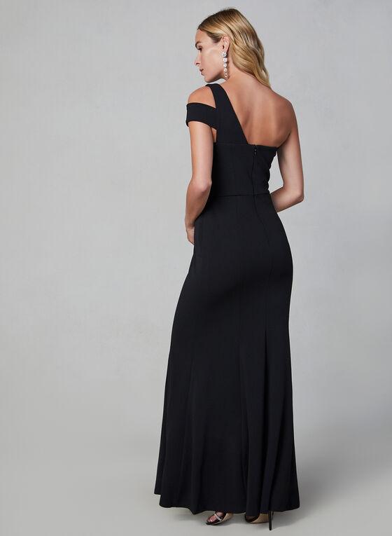 Cachet - Robe longue à épaule dénudée, Noir, hi-res