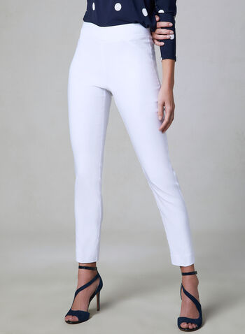 Slim Leg Ultra Tech Pants, White, hi-res