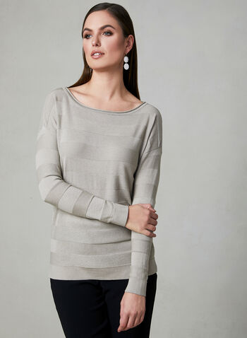 Dolman Sleeve Sweater, Off White, hi-res