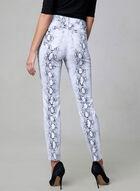 Snakeskin Print Slim Leg Jeans, White, hi-res