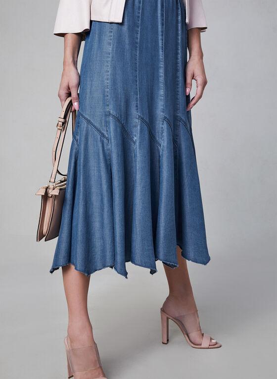 Linea Domani - Gored Maxi Skirt, Blue, hi-res