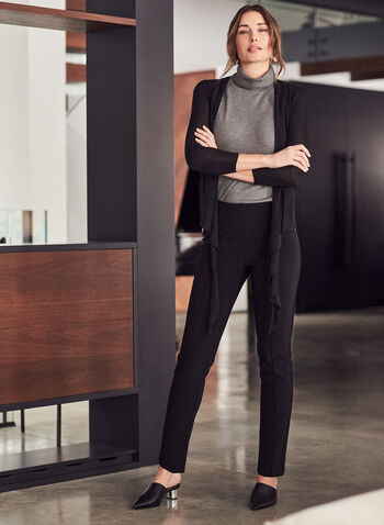 Joseph Ribkoff – Silky Tapered Pull On Pants, Black,  pants, slim leg, tapered, pull-on, joseph ribkoff, frank lyman, spring summer 2021