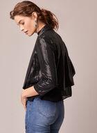 Open Front Sequin Jacket, Grey