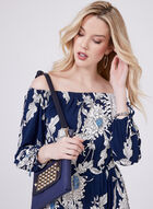 Maggy London - Off The Shoulder Jersey Dress, Blue, hi-res