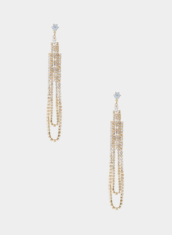 Crystal Chandelier Earrings, Gold,  rhinestone earrings, long earrings
