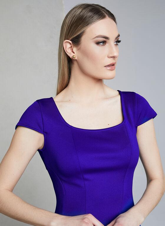 Donna Rico - Robe ajustée évasée en néoprène, Bleu