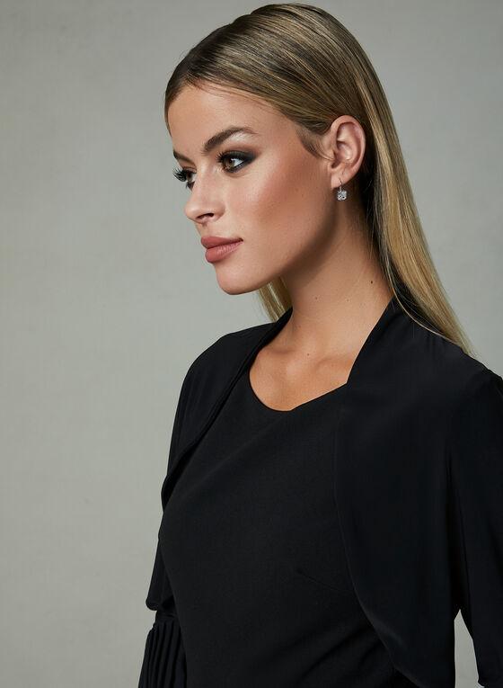 Pleated Jersey Bolero, Black