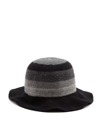 Wool Blend Cloche Hat, Black, hi-res