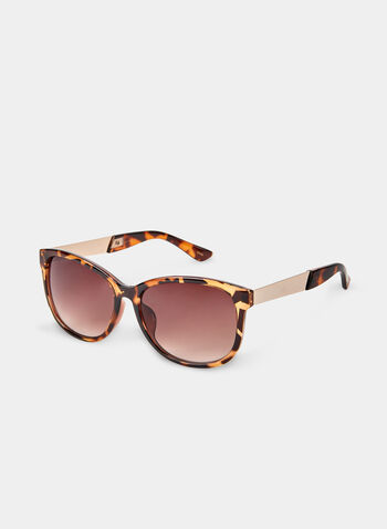 Tortoise Shell Sunglasses, Brown, hi-res