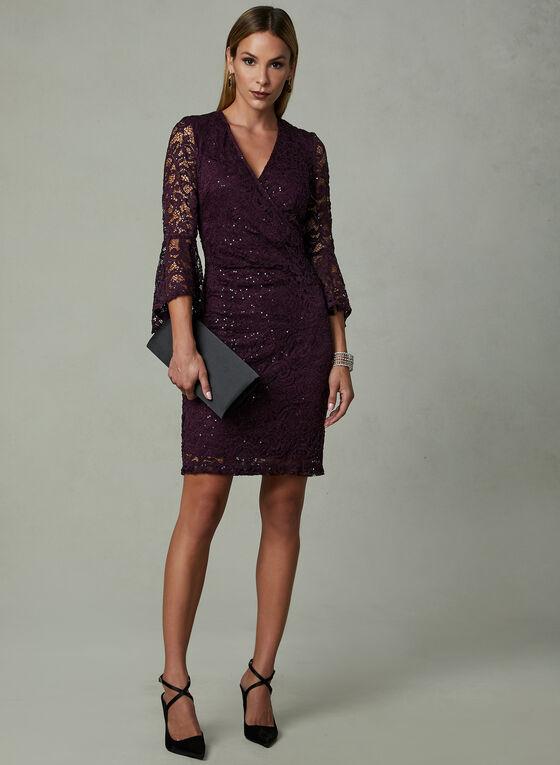 SD Collection - Robe en dentelle pailletée, Violet, hi-res