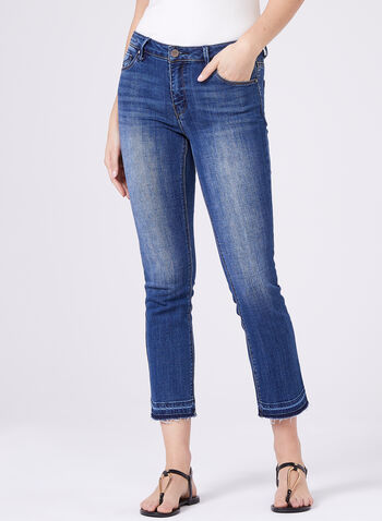 Unpublished –Released Hem Boyfriend Jeans, Blue, hi-res
