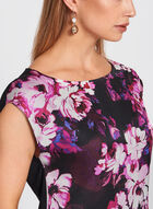 Floral Print Extended Sleeve Top , Red, hi-res