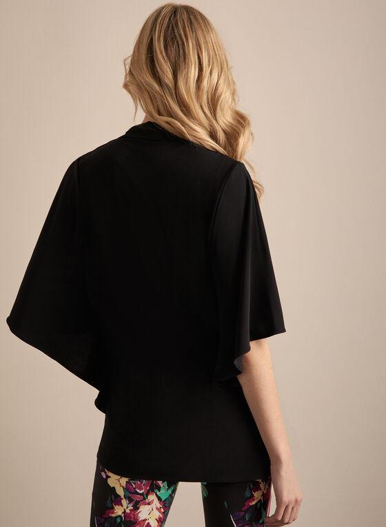 Joseph Ribkoff - Blouse kimono en jersey, Noir