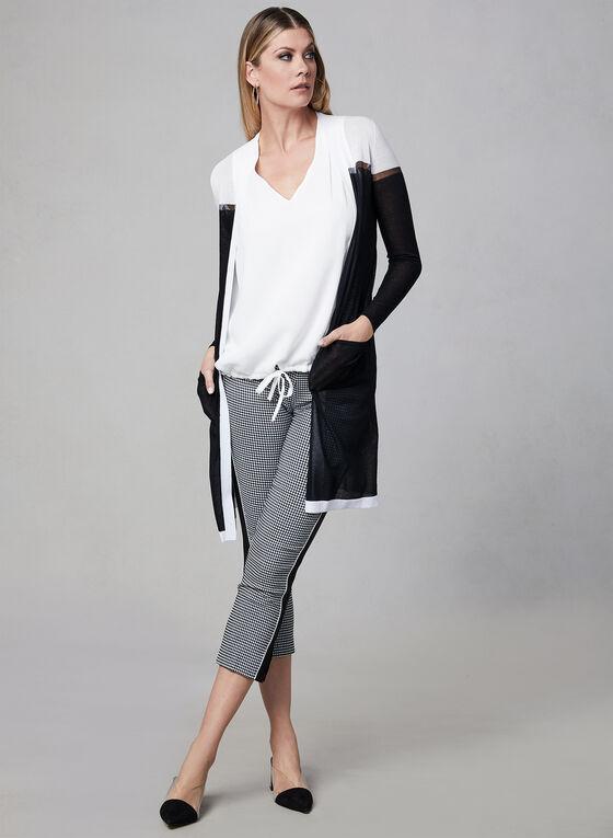 Tie Detail Sleeveless Top, Off White, hi-res