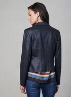 Vex - Veste style perfecto à détails zippés, Bleu