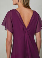 Adrianna Papell - Capelet Back Dress, Purple, hi-res