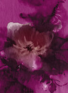 Foulard de soie avec motif floral, Rose, hi-res