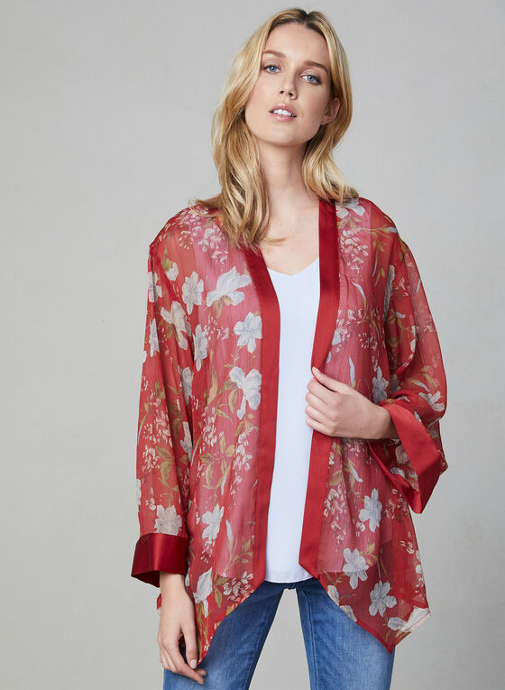 Vince Camuto - Chiffon Kimono, Red, hi-res