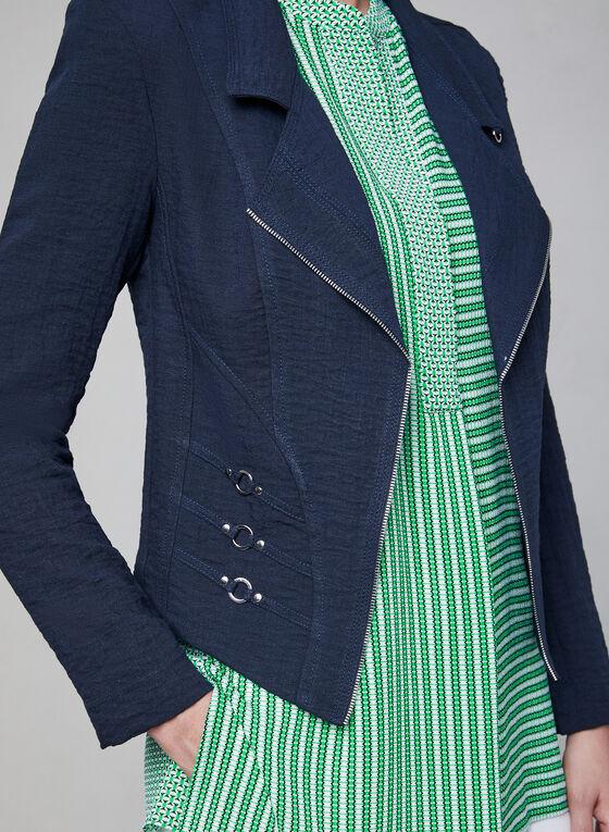 Vex - Blazer ouvert à détails zippés et œillets, Bleu