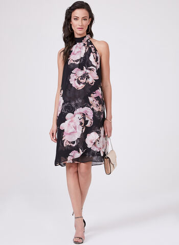 Ignite Evenings - Floral Print Chiffon Dress, Multi, hi-res