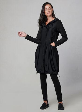 Compli K – Long Jersey Jacket, Black, hi-res,  long sleeves, front zip closure, drawstring hood, two deep pockets, fall 2019, winter 2019