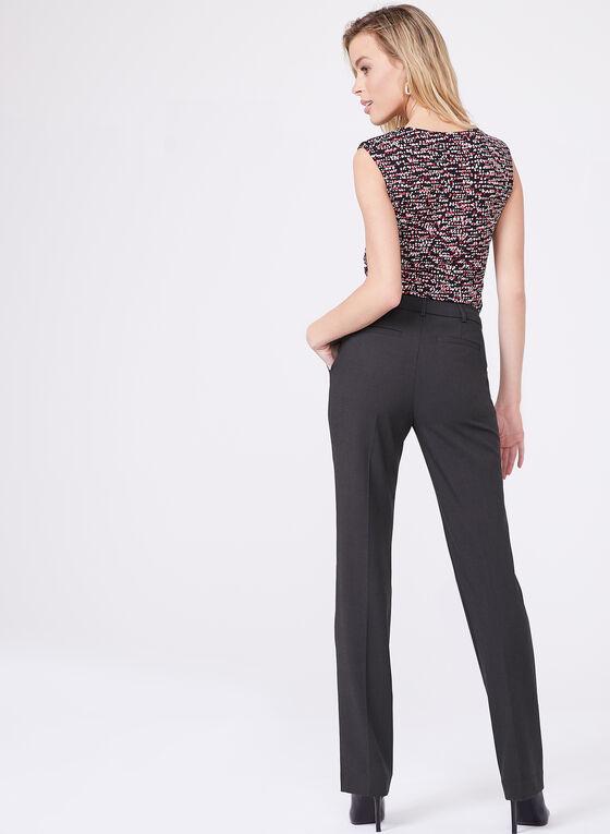 Louben - Straight Leg Pants , Grey, hi-res