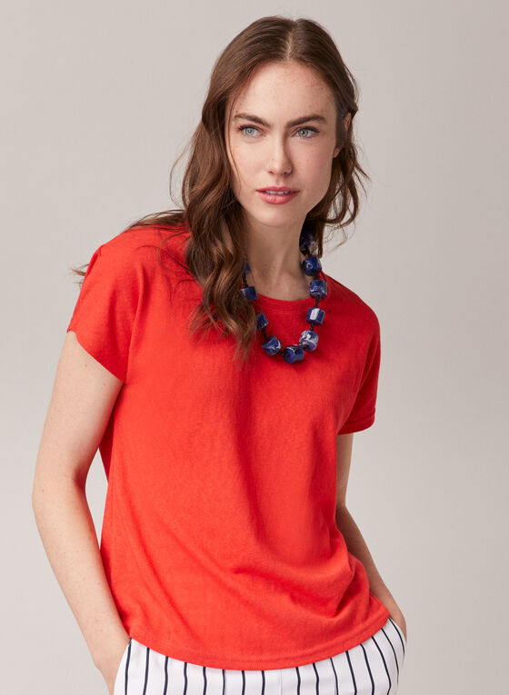 Alison Sheri - Short Sleeve Top, Orange
