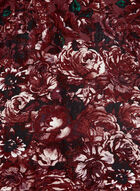 Floral Print Silk Scarf, Red, hi-res