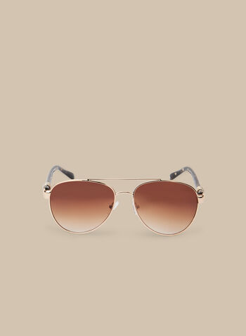 Metal Aviator Sunglasses, Brown,  sunglasses, eyewear, aviators, aviator sunglasses, spring 2020,summer 2020