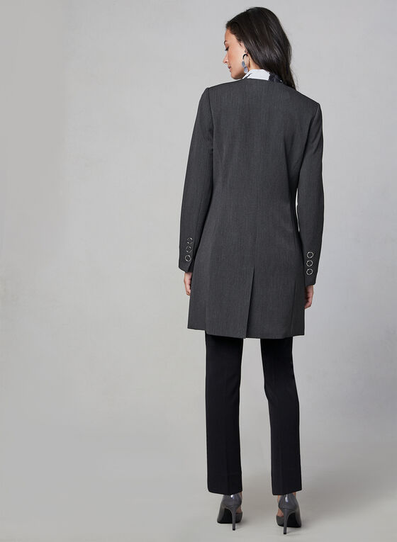 Structured Redingote, Grey, hi-res