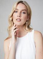Kensie - Sleeveless Crepe Dress, White, hi-res