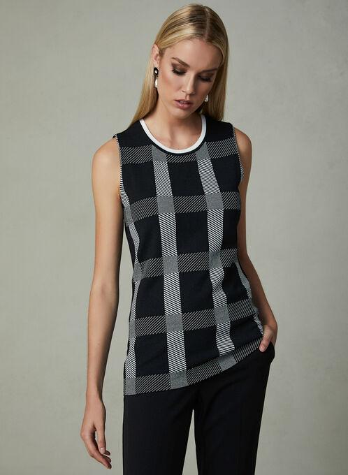 Sleeveless Knit Top , Black, hi-res