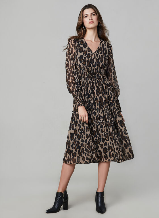 Animal Print Dress, Black