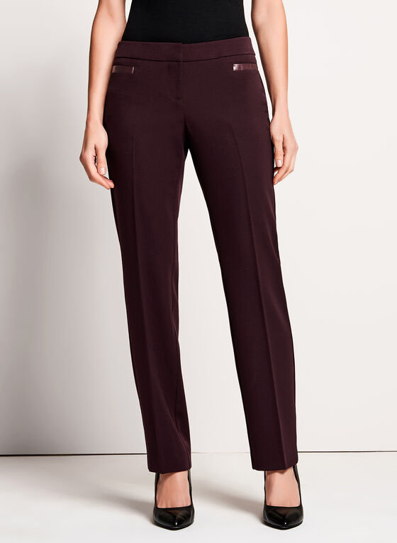 Lauren Tailored Fit Straight Leg Pants, Red, hi-res
