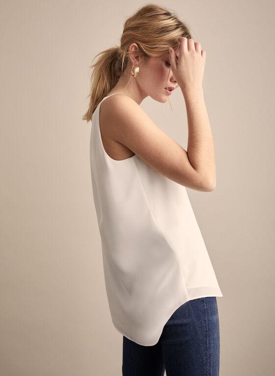 Sleeveless Crepe Blouse, Off White