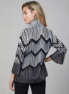 Frank Lyman - Mesh & Satin Jacket, Black, hi-res
